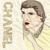 A portrait of Coco Chanel