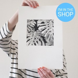 monstera aquatint etching sale
