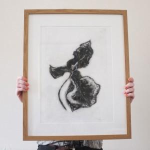 orchid monoprint
