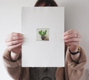 tiny cactus multi plate print